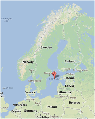 The Baltic Sea (Google maps)
