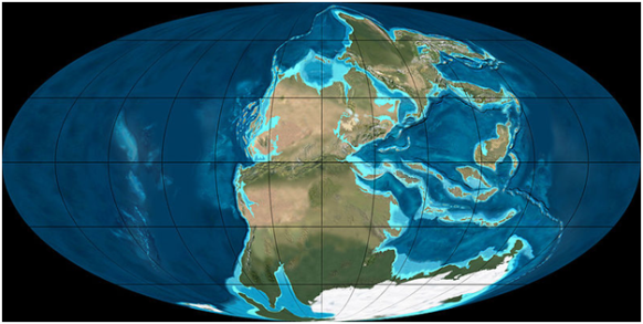 Permian land mass (Wikimedia commons)