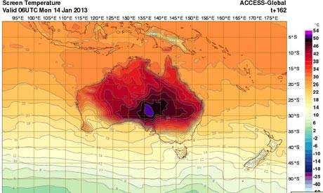 Extreme Heat in January 2013 (Bureau of Meteorology)